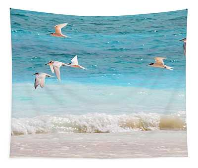 Like Birds In The Air Tapestry