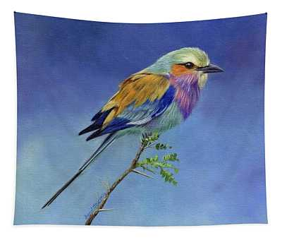Lilacbreasted Roller Tapestry
