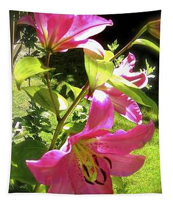 Lilies In The Garden Tapestry