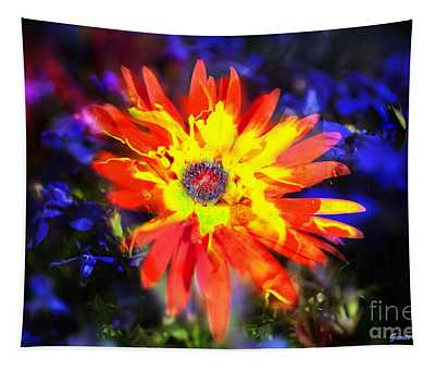 Lily In Vivd Colors Tapestry