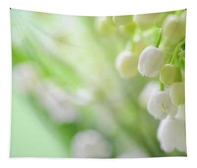 Lily Of The Valley. Spring Delight Tapestry