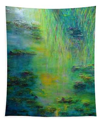 Lily Pond Tribute To Monet Tapestry