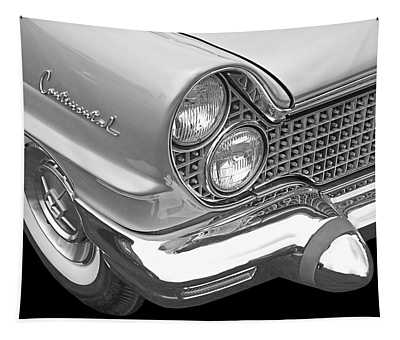 Lincoln Continental 1960 In Black And White Tapestry