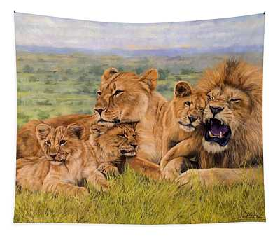 Lion Family Tapestry