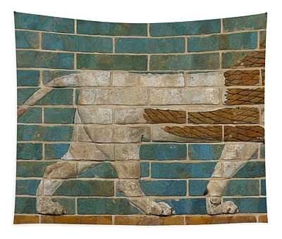 Lion Relief From The Processional Way In Babylon Tapestry