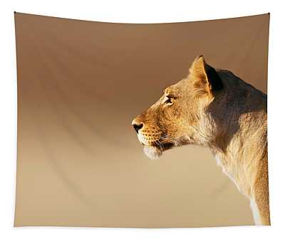 Lioness Portrait Tapestry