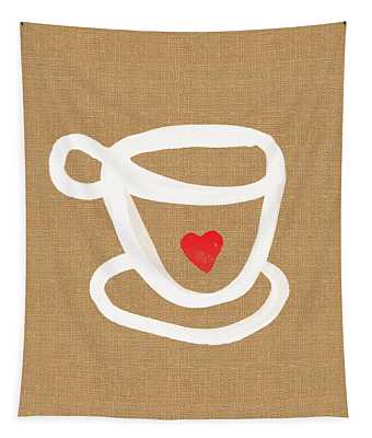 Little Cup Of Love Tapestry