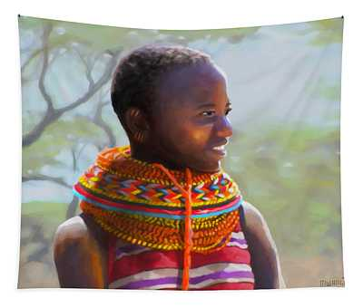 Little Girl From Isiolo Tapestry
