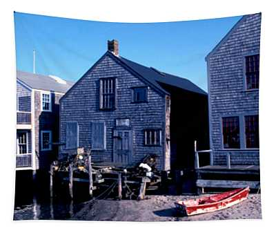 Tapestry featuring the photograph Little Red Boat On Nantucket by Joy McKenzie