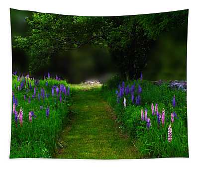 Living In A Lupine Moment Tapestry
