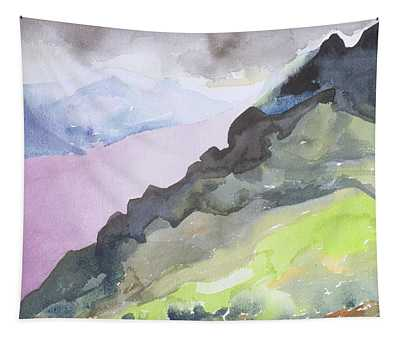 Loch Ness From Glendoe Lodge, 1995 Wc On Paper Tapestry