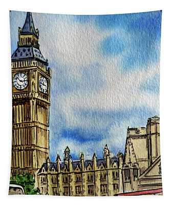 London England Big Ben Tapestry