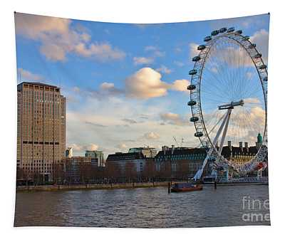 London Eye And Shell Building Tapestry