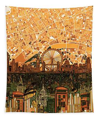 London Skyline Abstract 7 Tapestry