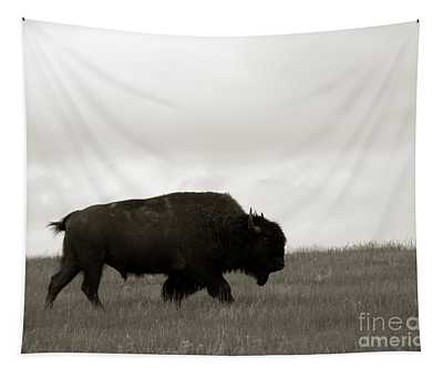 Lone Bison Tapestry