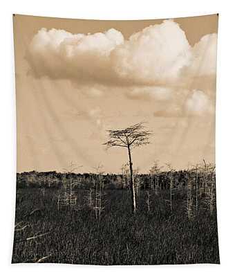 lone cypress III Tapestry