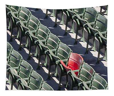 Tapestry featuring the photograph Lone Red Number 21 Fenway Park by Susan Candelario
