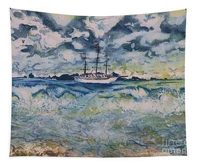 Lone Vessel  Tapestry