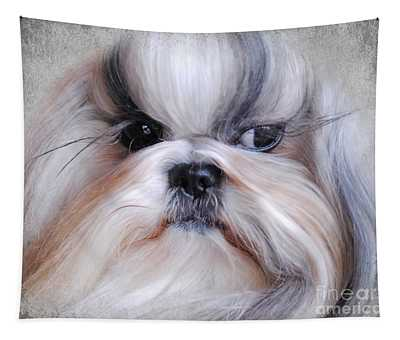 Long Haired Shih Tzu Tapestry