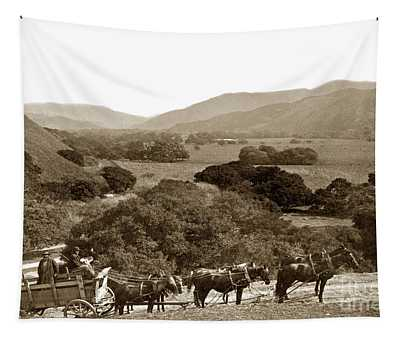 Looking Up The Carmel Valley California Circa 1880 Tapestry