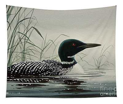Loon Near The Shore Tapestry
