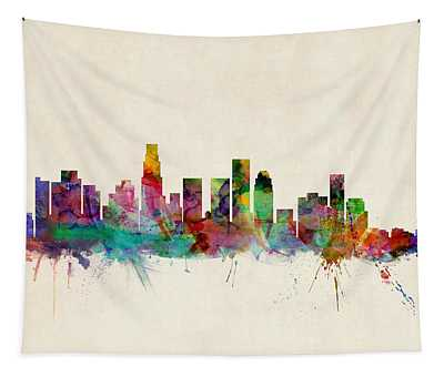 Los Angeles City Skyline Tapestry