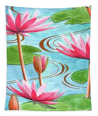 Lotus Flower Tapestry