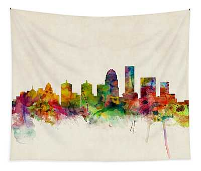 Louisville Kentucky City Skyline Tapestry