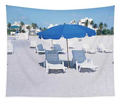Lounge Chairs On The Beach, South Tapestry