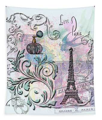 Love Paris Tapestry