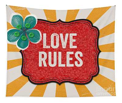 Love Rules Tapestry