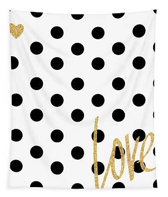 Love With Dots Tapestry