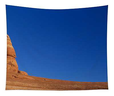 Low Angle View Of A Natural Arch Tapestry