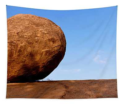Low Angle View Of A Sacred Rock Tapestry