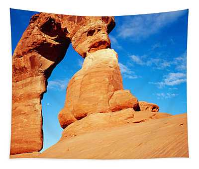 Low Angle View Of Delicate Arch, Arches Tapestry