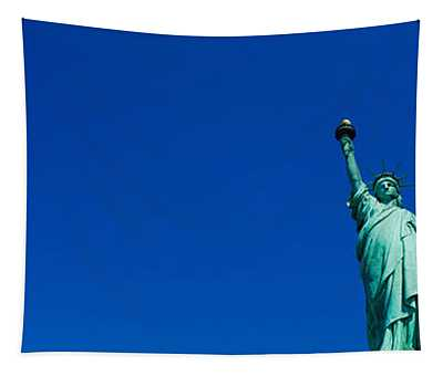 Low Angle View Of Statue Of Liberty Tapestry