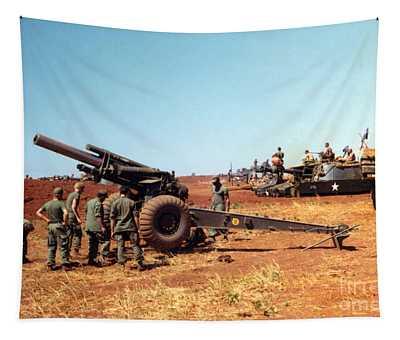 M114 155 Mm Howitzer Was A Towed Howitzer 4th Id Pleiku Vietnam Novembr 1968 Tapestry