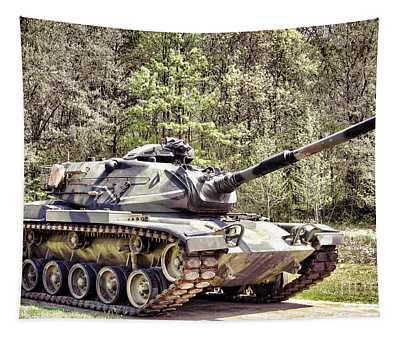 M60 Patton Tank Tapestry