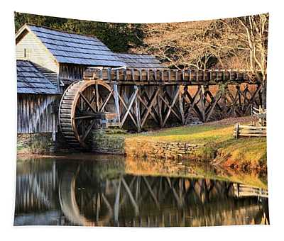 Mabry Grist Mill Fall Panorama Tapestry