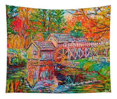Mabry Mill In Fall Tapestry