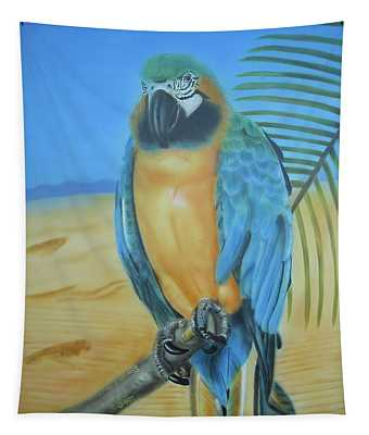 Macaw On A Limb Tapestry