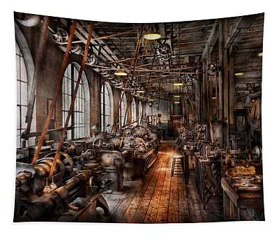 Machinist - A Fully Functioning Machine Shop  Tapestry