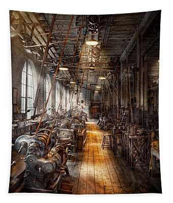 Machinist - Welcome To The Workshop Tapestry
