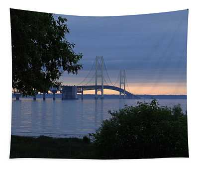 Mackinac Bridge Twilight Tapestry