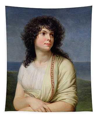 Madame Hamelin 1776-1851 Oil On Canvas Tapestry