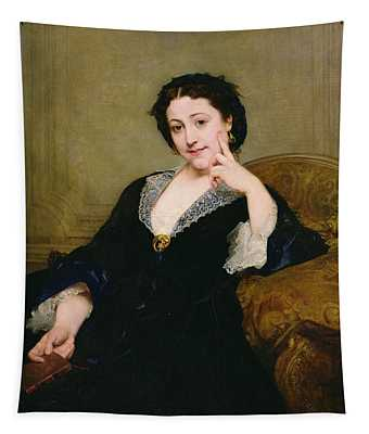 Madeleine Brohant 1833-1900 Of The Comedie-francaise, 1860 Oil On Canvas Tapestry