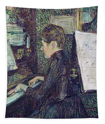 Mademoiselle Dihau At The Piano Tapestry