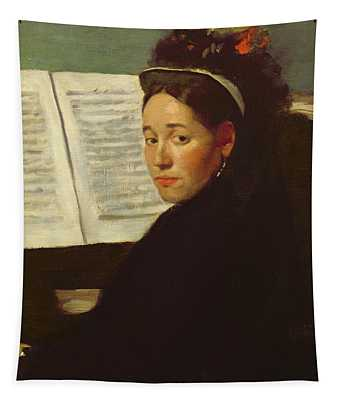 Mademoiselle Marie Dihau At The Piano Tapestry