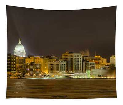 Madison - Wisconsin City  Panorama - No Fireworks Tapestry