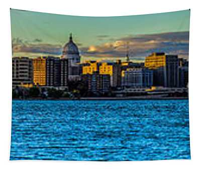 Madison Twilight Panorama Tapestry